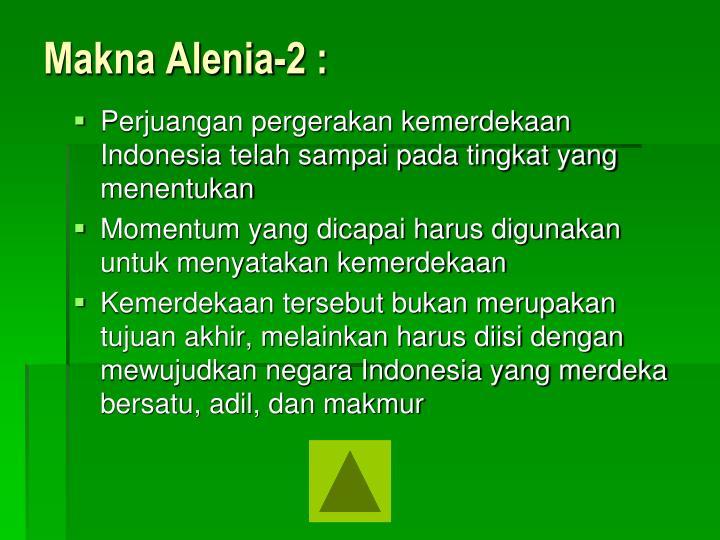 Makna Alenia-2 :