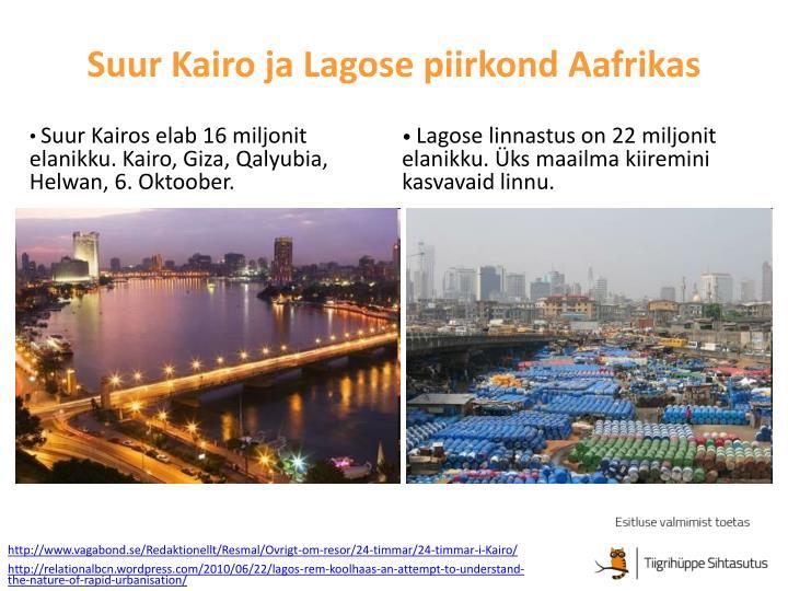 Suur Kairo ja Lagose piirkond Aafrikas