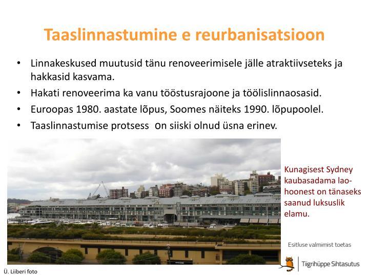 Taaslinnastumine e reurbanisatsioon