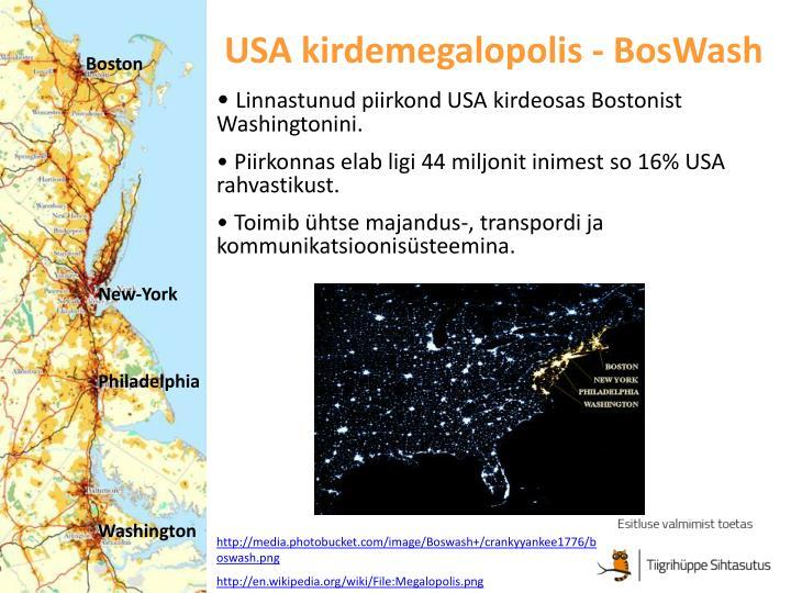 USA kirdemegalopolis - BosWash