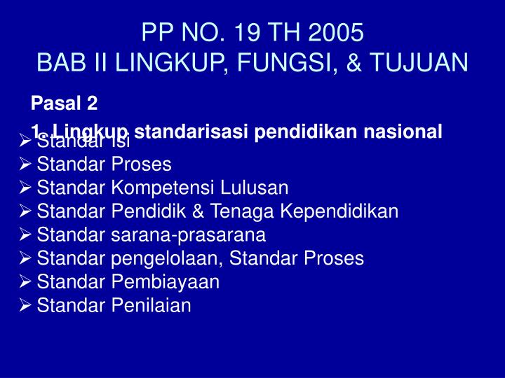 PP NO. 19 TH 2005