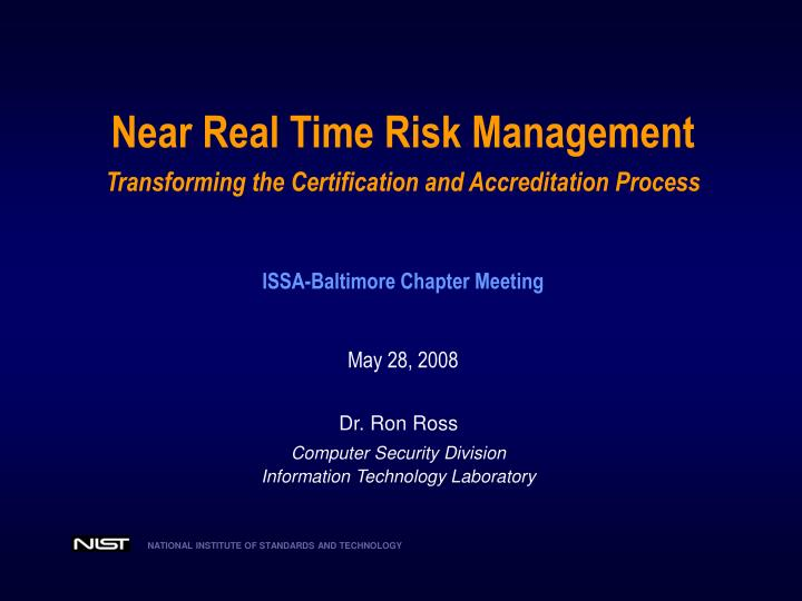 Near Real Time Risk Management