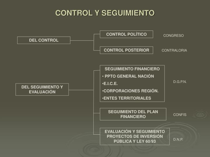 CONTROL Y SEGUIMIENTO