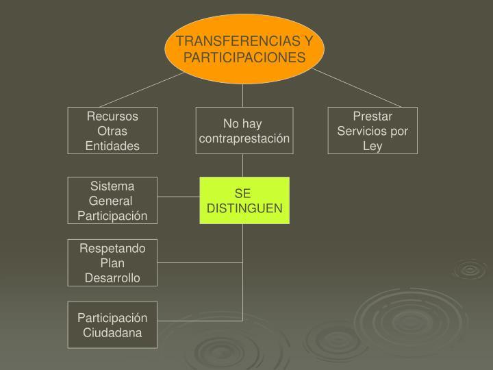 TRANSFERENCIAS Y