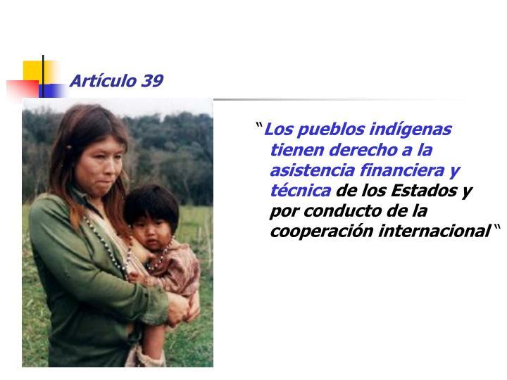 Artículo 39