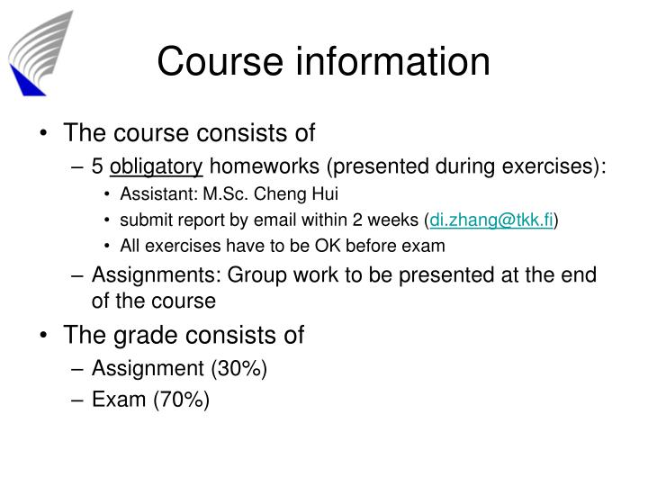 Course information1