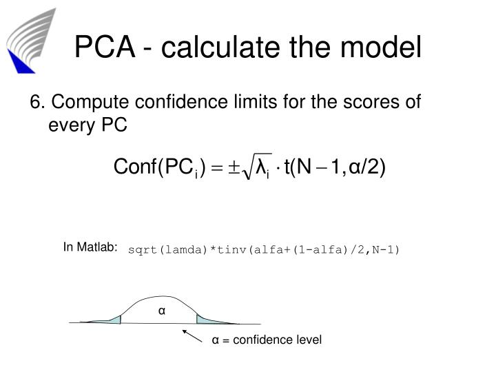 PCA - calculate the model