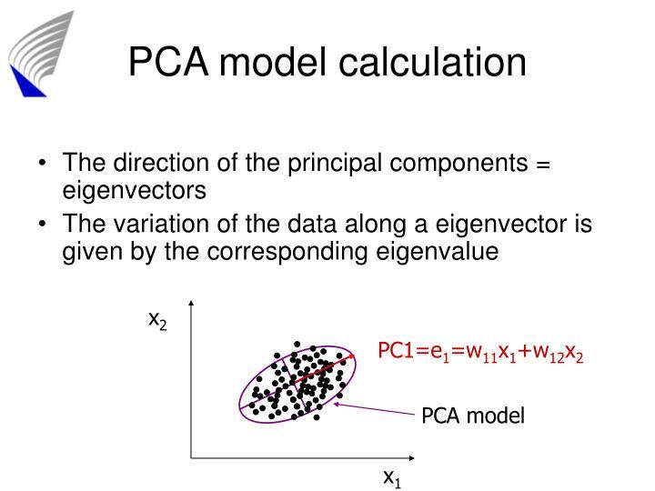 PCA model calculation