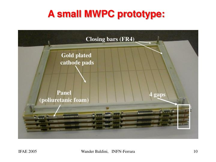A small MWPC prototype: