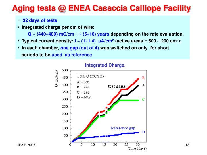Aging tests @ ENEA Casaccia Calliope Facility