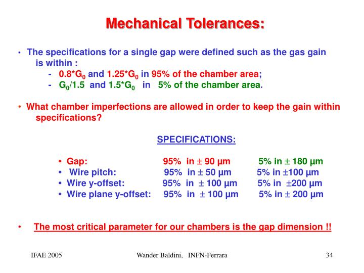 Mechanical Tolerances: