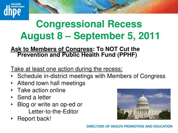 Congressional Recess