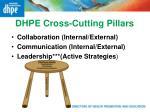 dhpe cross cutting pillars