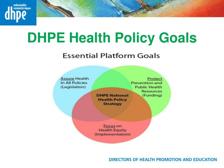 DHPE Health Policy Goals