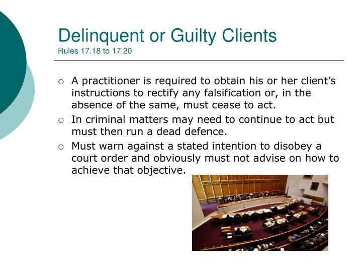 Delinquent or Guilty Clients