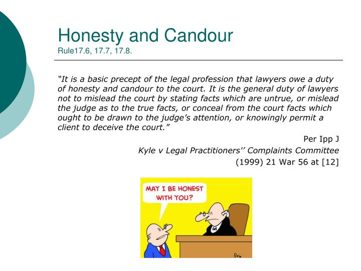 Honesty and Candour