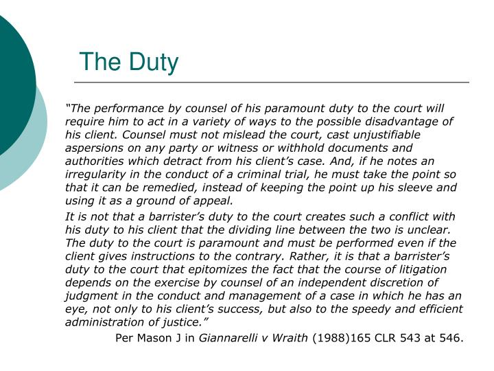 The duty