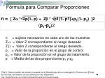 f rmula para comparar proporciones