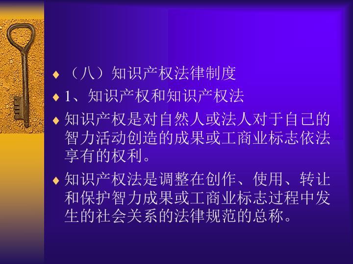 (八)知识产权法律制度