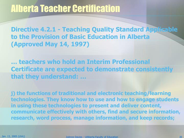 Alberta Teacher Certification