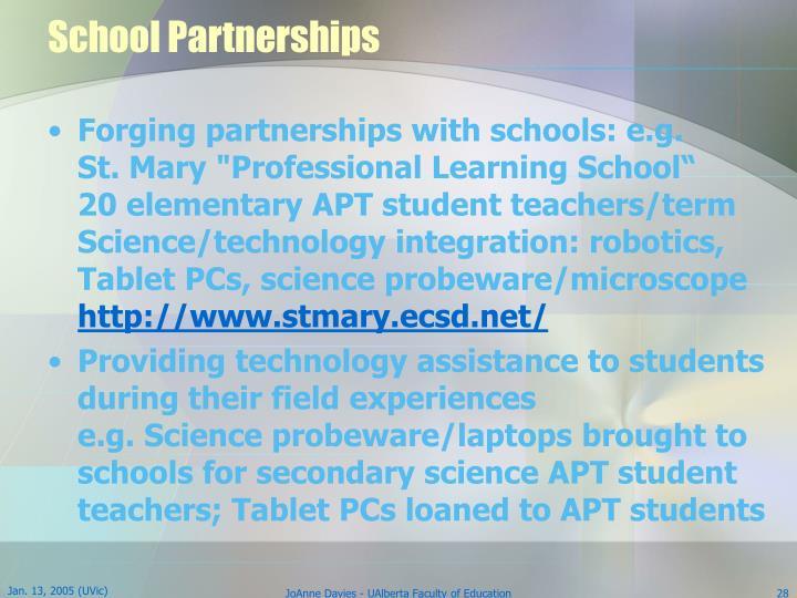 School Partnerships