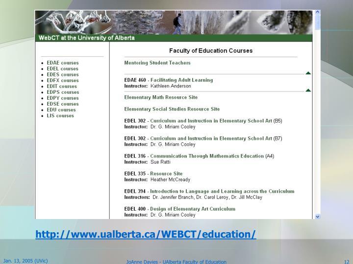 http://www.ualberta.ca/WEBCT/education/