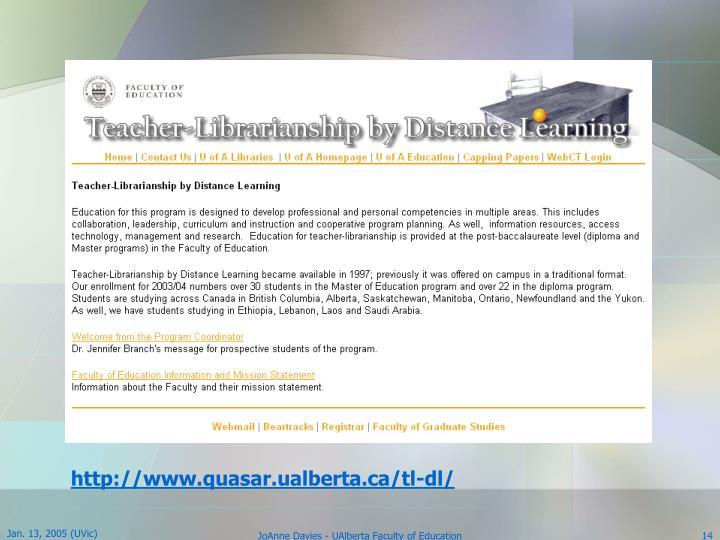 http://www.quasar.ualberta.ca/tl-dl/