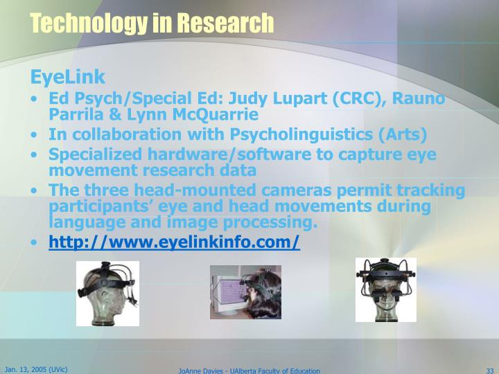 Technology in Research