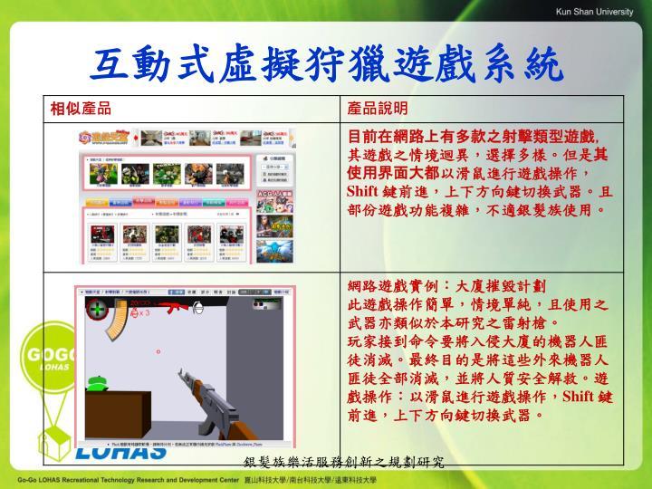 互動式虛擬狩獵遊戲系統