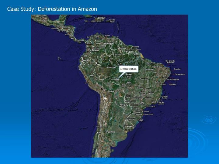 Case Study: Deforestation in Amazon