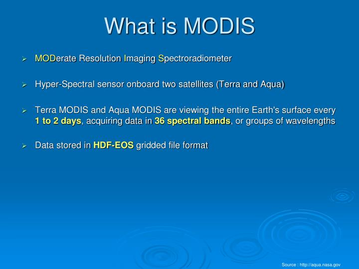 What is modis