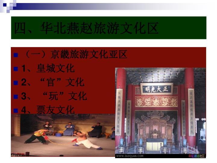 四、华北燕赵旅游文化区