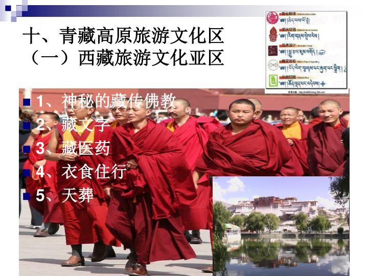 十、青藏高原旅游文化区