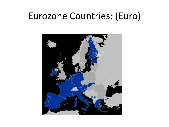 Eurozone Countries: (Euro)