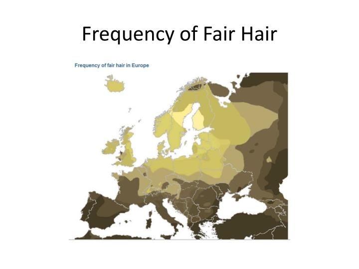 Frequency of Fair Hair