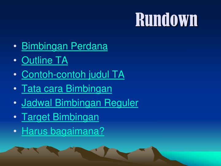 Rundown