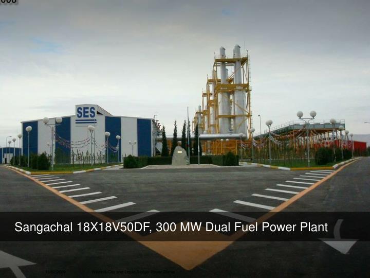 Sangachal 18X18V50DF, 300 MW Dual Fuel Power Plant