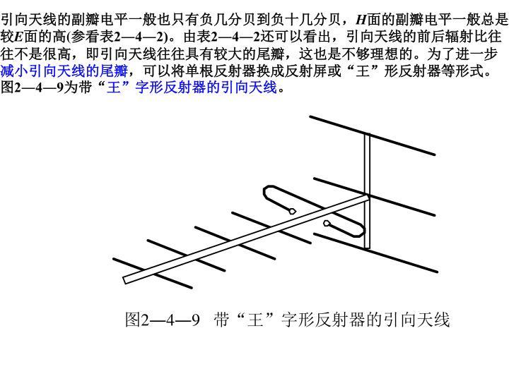 引向天线的副瓣电平一般也只有负几分贝到负十几分贝,