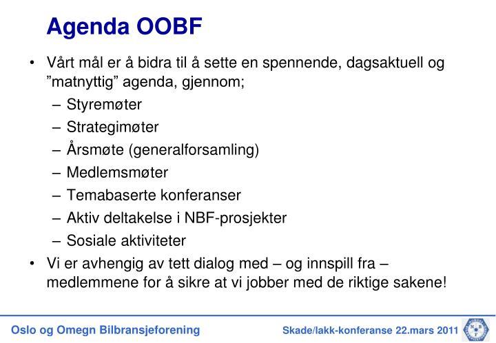Agenda OOBF