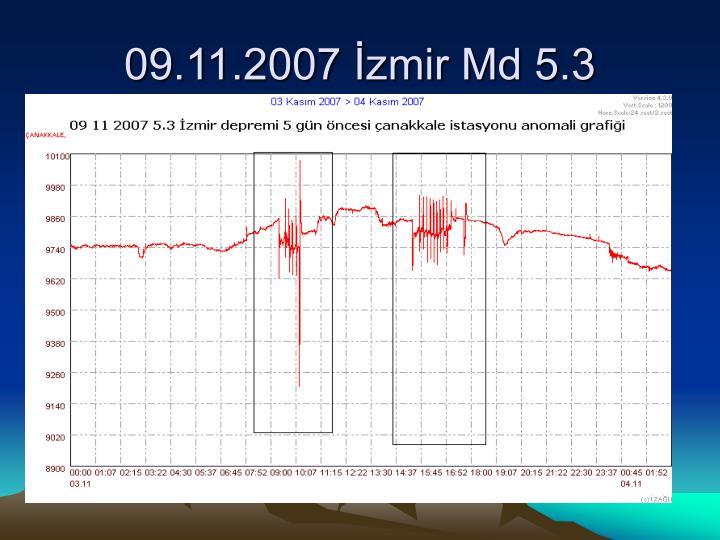 09.11.2007 İzmir Md 5.3