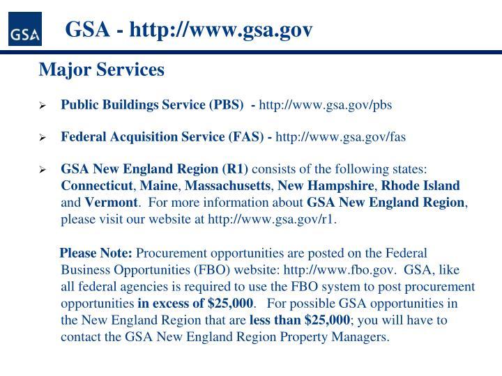 GSA - http://www.gsa.gov