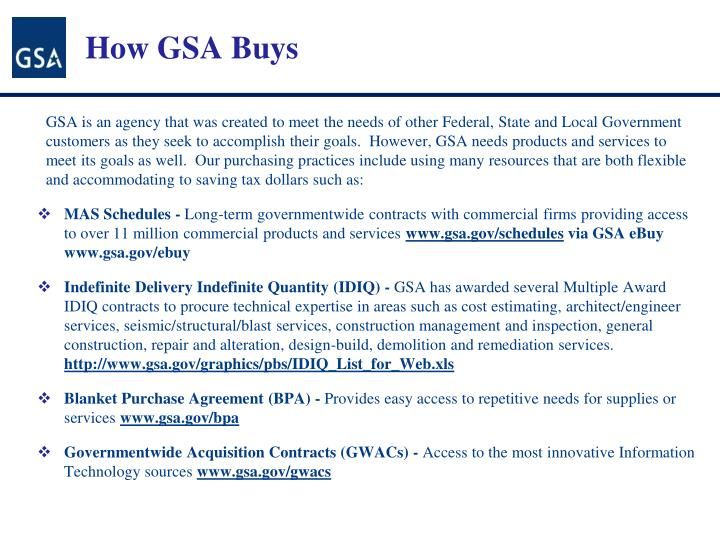 How GSA Buys