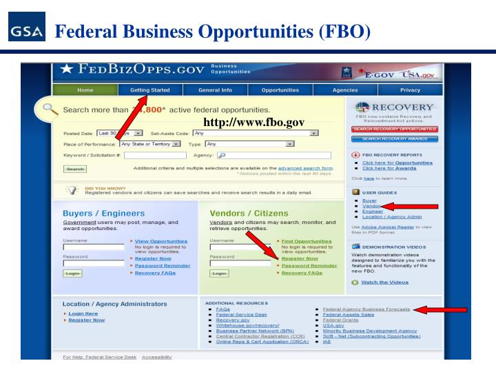 Federal Business Opportunities (FBO)