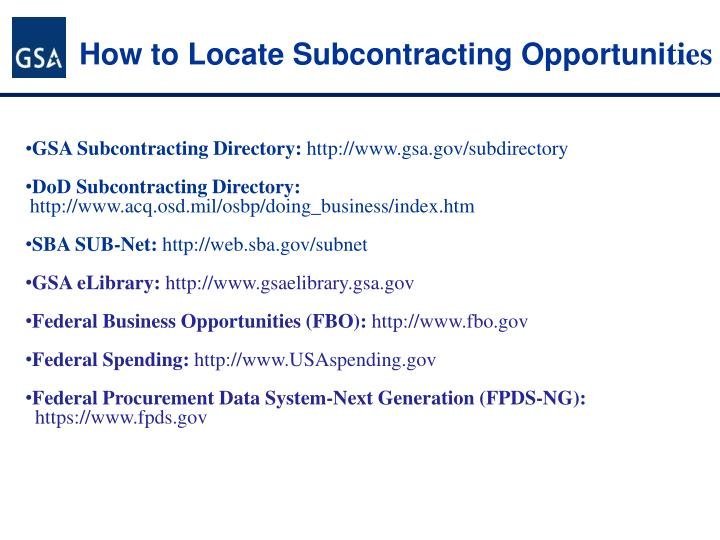 How to Locate Subcontracting Opportuni