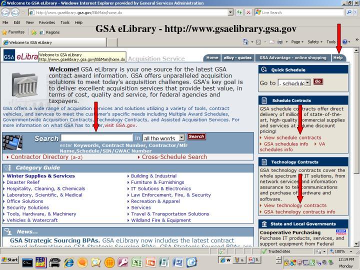 GSA eLibrary - http://www.gsaelibrary.gsa.gov