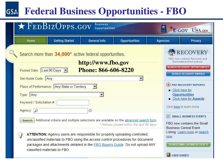 Federal Business Opportunities -