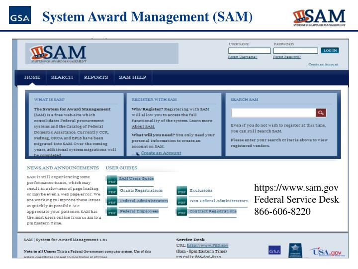 System Award Management (SAM)