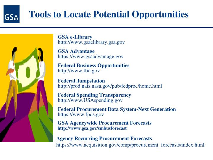 Tools to Locate Potential Opportunities