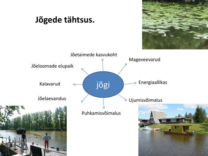 Jõgede tähtsus.