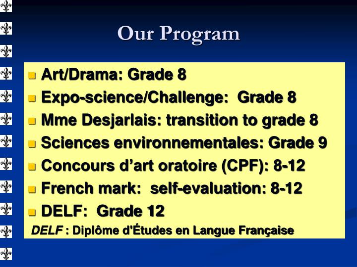 Art/Drama: Grade 8
